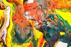 Colorido de aquarela misturada foto de stock royalty free