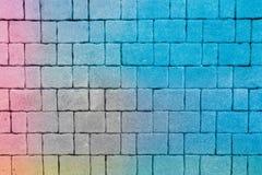 Colorido de blocos do tijolo do arranjo Imagem de Stock