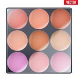 Colorido de compõe a paleta Fotos de Stock Royalty Free