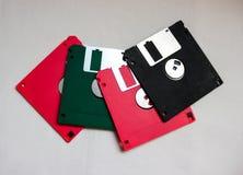 Colorido de disco flexível Imagem de Stock Royalty Free