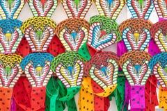 Colorido de estilo tradicional tailand?s de la cometa de la serpiente en el camino Bangkok Tailandia de Sukhumvit de los grandes  fotografía de archivo libre de regalías