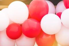 colorido de globos en festival del día del deporte adorne para el backgrou imágenes de archivo libres de regalías