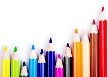 Colorido de los lápices en el concepto todos para uno Fotografía de archivo