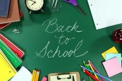 Colorido de nuevo a fuentes de escuela Foto de archivo libre de regalías