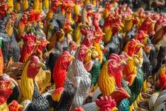 Colorido de pollos imagen de archivo