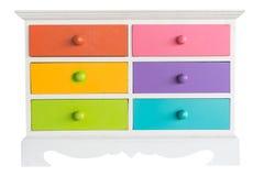 Colorido del gabinete de los accesorios con el cajón Imagenes de archivo