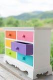 Colorido del gabinete de los accesorios con el cajón Foto de archivo