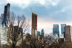 Colorido del nuevo edificio en el Central Park en New York City con imágenes de archivo libres de regalías
