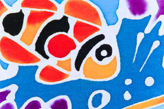 Colorido del paño impreso modelo Fotos de archivo