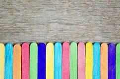 Colorido del palillo de madera del helado Imagen de archivo libre de regalías