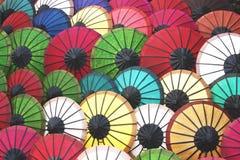 Colorido del paraguas hecho a mano Foto de archivo