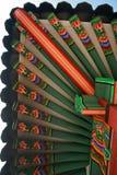 Tejado de madera coreano imagen de archivo libre de regalías