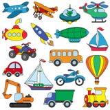 Colorido determinado de Toy Transport Imagenes de archivo