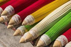 Colorido do guarda-chuva no mercado de Chiang Mai Foto de Stock Royalty Free