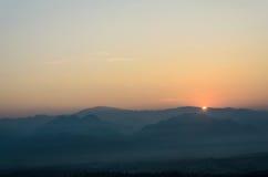 Colorido do nascer do sol Fotos de Stock Royalty Free