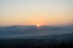 Colorido do nascer do sol Foto de Stock Royalty Free