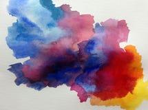 Colorido do sumário do fundo da arte da aquarela textured Fotografia de Stock Royalty Free