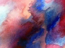 Colorido do sumário do fundo da arte da aquarela textured Fotos de Stock