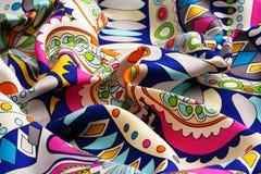 Colorido drapeje a tela de seda fotografia de stock