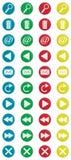 Colorido em volta dos ícones 2 Imagem de Stock Royalty Free