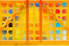 Colorido en el marco plástico viejo Imagen de archivo