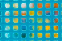 Colorido en el marco plástico viejo Fotos de archivo libres de regalías