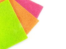 Colorido esfregue almofadas Fotos de Stock