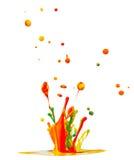 Colorido espirra Imagem de Stock Royalty Free