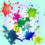 Colorido espirra em um fundo azul foto de stock royalty free