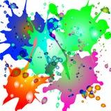 Colorido espirra em um fundo branco fotos de stock