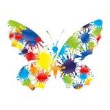 Colorido espirra sob a forma de uma borboleta Imagem de Stock