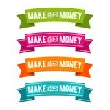 Colorido faça fitas do dinheiro Vetor Eps10 Fotos de Stock Royalty Free