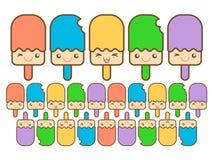 Colorido feliz do gelado Imagens de Stock