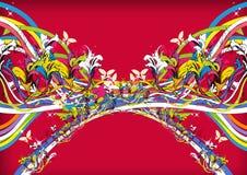 Colorido festivo do fundo floral ilustração royalty free