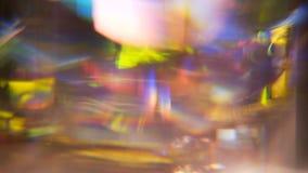 Colorido fuera del vitral del foco almacen de metraje de vídeo