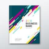 Colorido geométrico do sumário do livro do negócio da tampa Fotografia de Stock Royalty Free