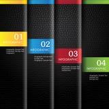 Colorido infographic de cuero Fotografía de archivo libre de regalías