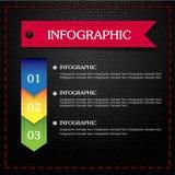 Colorido infographic negro de cuero Imagen de archivo
