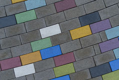Colorido pavimentando telhas Foto de Stock