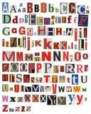 Colorido, periódico, alfabeto de la revista Imagen de archivo