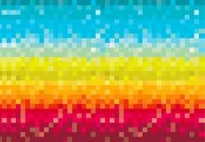 Colorido pixelated ilustração stock