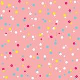 Colorido polvilha o teste padrão sem emenda do esmalte da filhós Imagem de Stock Royalty Free