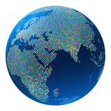 Colorido pontilhado sumário do globo Fotografia de Stock