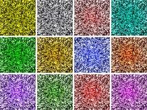 Colorido protegido com projeto gerado por computador da imagem do fundo do efeito peludo e luz ilustração do vetor