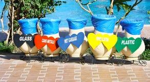 Colorido recicle los compartimientos Fotografía de archivo libre de regalías
