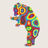 Colorido rinoceronte, diseño del vector del arte Imagenes de archivo