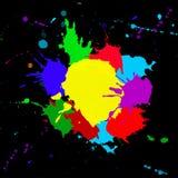 Colorido salpica ilustración del vector