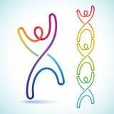 Colorido swirly figura que puede ligar junto libre illustration
