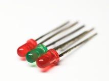 Colorido três diodos luminescentes Foto de Stock Royalty Free