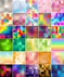 30 coloridos abstratos alisam borrado Imagem de Stock Royalty Free